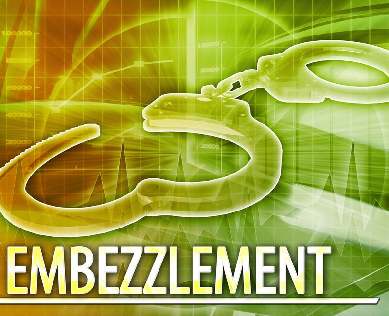What happens if I am charged with embezzlement?
