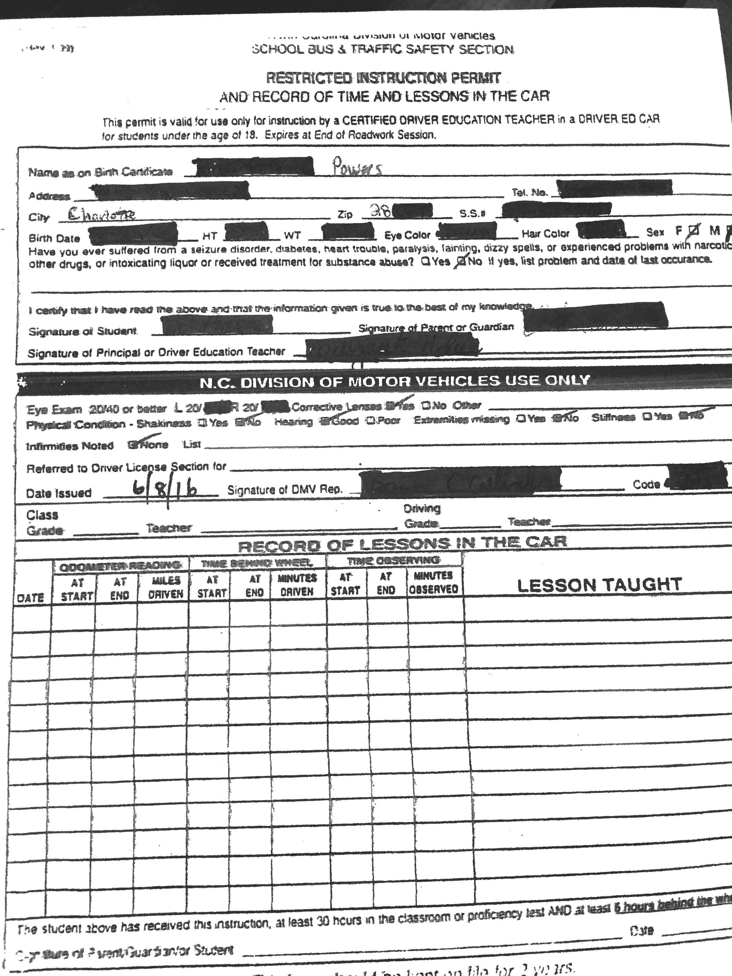 Nc division of motor vehicle vehicle ideas for Nc division of motor vehicles driving log