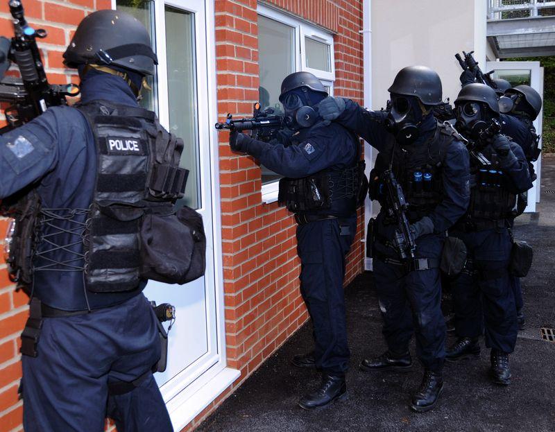 Police Door Search Warrant SWAT