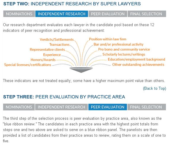 SuperLawyers Selection Process 2016 Parts II and III