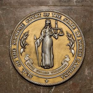 Seal of the Supreme Court of the State of North Carolina - Assault & Battery