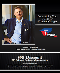 $50 Discount NC Criminal Defense: Misdemeanors