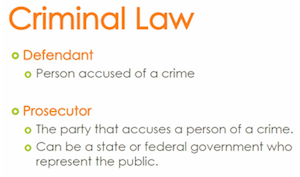 Criminal Law, Defendant, Prosecutor