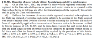 Operation of Motor Vehicle without financial responsability a misdemeanor