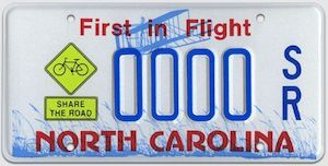 NC License Plate