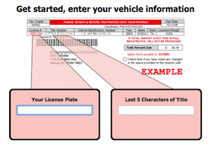 NC Sample Vehicle Registration