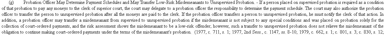 Transfer Unsupervised Probation