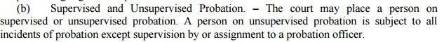 Supervised and Unsupervised Probation